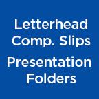 Letterhead Compliments Slips Presentation Folders